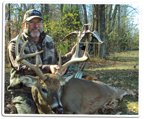 Bill Troubridge with his 2010 Ohio 8-point